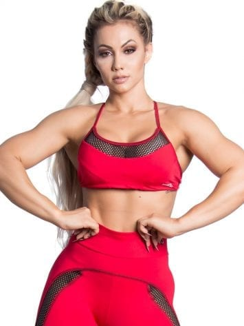 Trincks Fitness Activewear Street Sports Bra Top – Red
